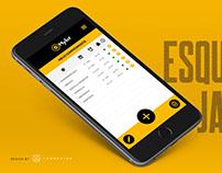 Criação de layout para app mobile.