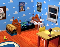 Andy's bedroom - Toy Story (Remake)