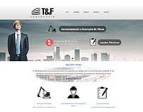 Site para a empresa T&F Engenharia em Porto Alegre.