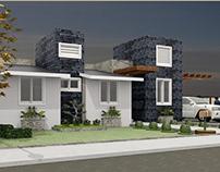Model 3D house 90m2