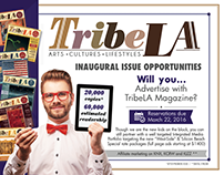 Media Kit, sales flyer - TribeLa Magazine (LA - USA)