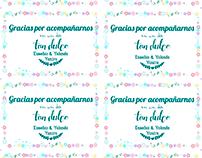 Bodas: tarjetas agradecimiento