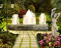 Estudo de Matte Painting - Jardim