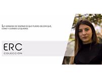 Muestra de prendas tipo catálogo -  ERC Colección.