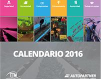 Calendario 2016 TTM  (Dilo Comunica).