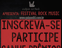 Flyer de divulgação Festival Rock Music