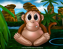 Artwork Monkey Baby adventure(Ilustración Bebe Mono)