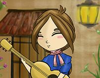 Guitarreando/Guitar Girl Animation