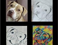 Mascotas: foto personalizada, dibujo, cómic y arte pop