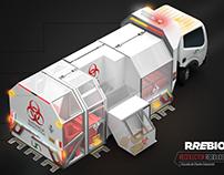 Hazardous waste collection vehicle I+D