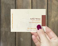 Cartão de visita desenvolvido para uma Arquiteta.