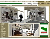 Model type shop, Interior Design. Milan - Italy