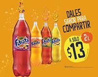 Promociones Coca-cola, Fanta y Fuze tea