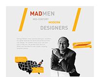 MadMen mid-century modern designers infographic