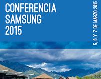 Afiche Conferencia Samsung 2015