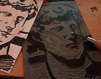 WORKSHOP DAY ! ( Today linocuts)