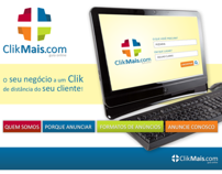 Hot-site do Guia comercial ClikMais.com