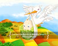 Ilustración para Proyecto Revista Infantil.