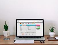 Layout de página de orçamento online