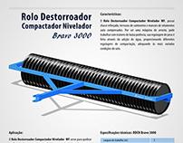 Rolo destorroador - ilustração digital
