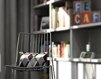 Render Cadeira - teste DOF
