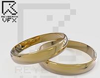 Diseño 3D anillos de Oro 24K