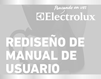 Electrolux - Rediseño de Manual de Usuario
