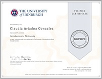 Introduction to Philosophy Certificate