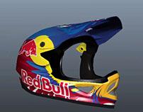 Casco Red Bull modelado para Realidad Aumentada