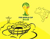 Flayer impresso Copa do Mundo 2014