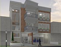 Model 3D small building