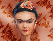 Caricatura Frida Kahlo