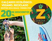 """Criação de material impresso para """"Zanzar Rio"""""""
