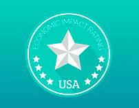 Propuesta de lsologotipo: Economic Impact Rating USA