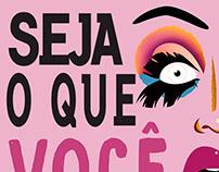 Cartaz divulgação de Blog - Drag Queen