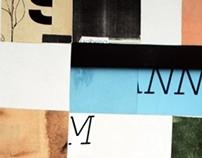 Pruebas y proceso de paisajes tipográfica