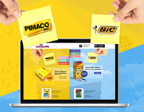 Hotsite Bic e Pimaco - Datasupri e-commerce