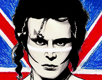 ADAM ANT - Portrait and Speed Drawing