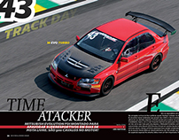 Design Revista FULLPOWER - Lancer EVO Time Attack