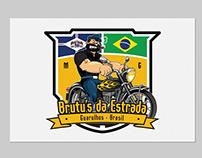 """Brasão do moto clube """"Brutu's da Estrada"""""""