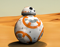 Star Wars BB8 3D Model and Animation