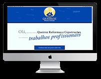 Queiroz Reformas Site, Logo e Facebook simples