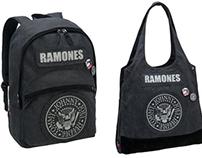 Mochila, tote bag e estojo Ramones