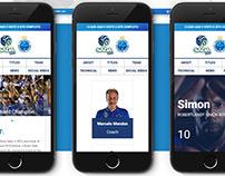 Site Sada Cruzeiro Vôlei   AI, UX, UI, HTML5, CSS3, WP