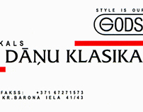 Design for brand shop Danu Klasika (Riga, Latvia)