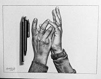 Ilustración de manos.