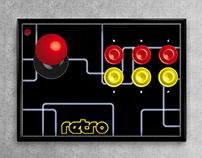 Afiche Arcade. Diseño gráfico.