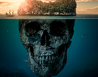 "Manipulación Photoshop ""Isla Misteriosa"""