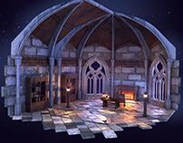 3D Gothic diorame