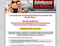 Landing page de Adelgaza sin Mentiras